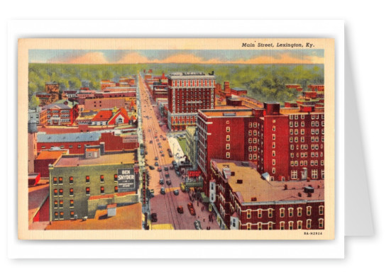 Lexington, Kentucky, Birds-eye of Main Street