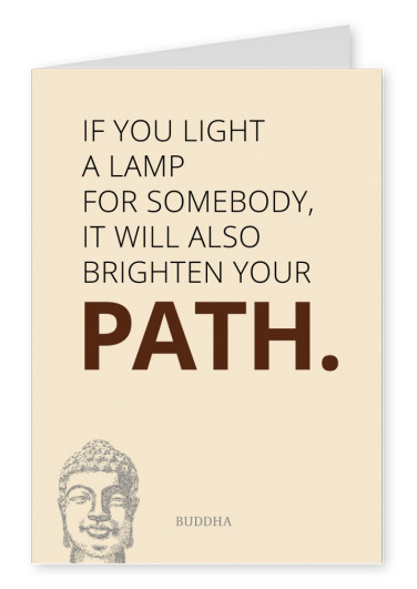If you light a lamp for somebody...