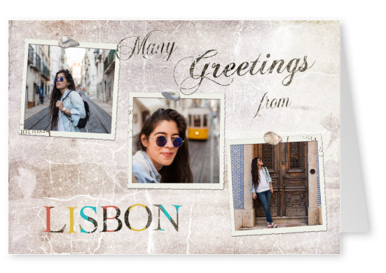 Many greetings from Lisbon