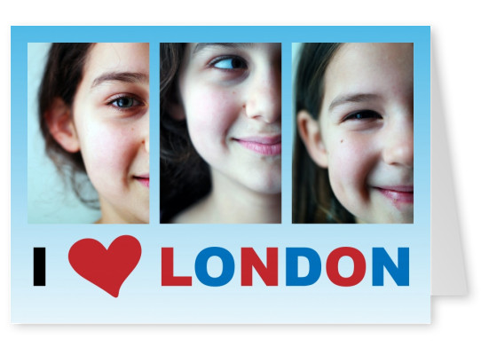 template with I love London sign
