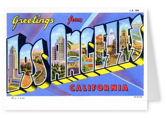 Curt Teich Postcard Archives Collection greetings from Los Angeles