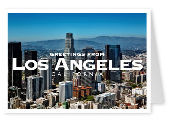 los angeles postcard skyline
