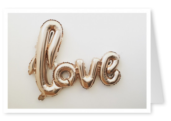 love glitter balloon