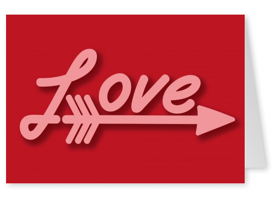 love vintage arrow postcard