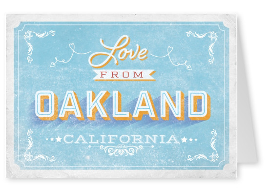 Vintage postcard Oakland California