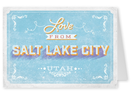 Love From Salt Lake City Utah Vacation Greeting Cards Send Real