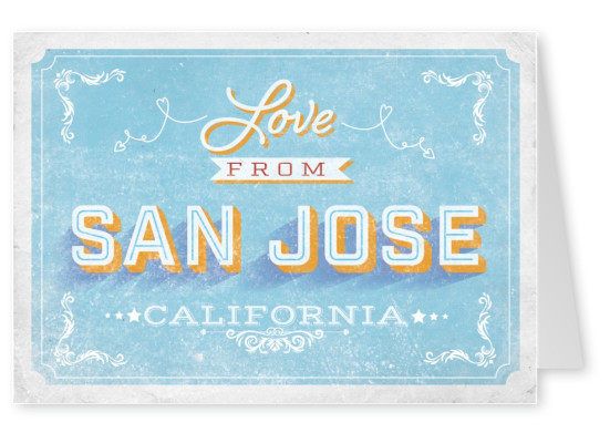 Vintage postcard San Jose, California