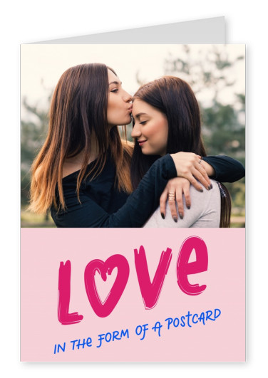 Love in the form of a postcard
