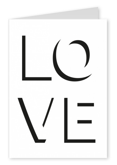 love letter postcard design template