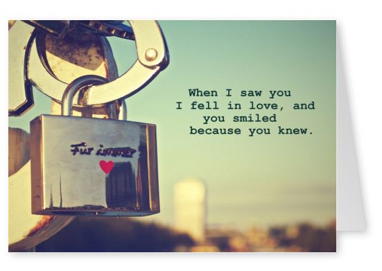 love lock quote postcard