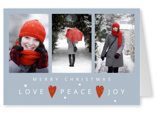Meridian Design Merry Christmas Love Peace Joyy New Year