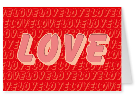 love postcard red