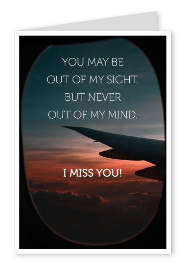 photo aeroplane love quote postcard
