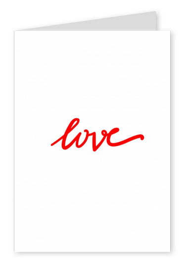card saying love