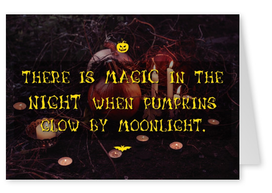 There is magic in the night when pumpkins glow by the moonlight