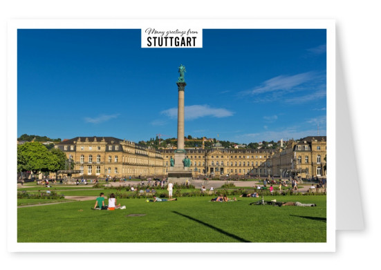 Photo of Stuttgart Germany showing Castle's square–mypostcard