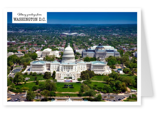 Postcard with photo of the capitol at Washington D.C.