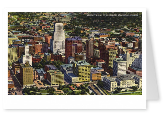 Curt Teich Postcard Archives Collection  Areal view of Memphis Business district
