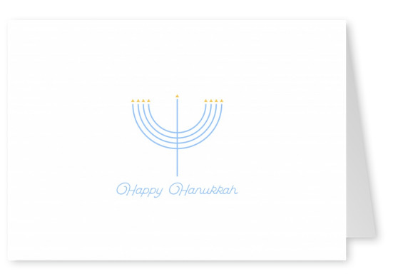 Minimalistic Menorah, Happy Hanukkah