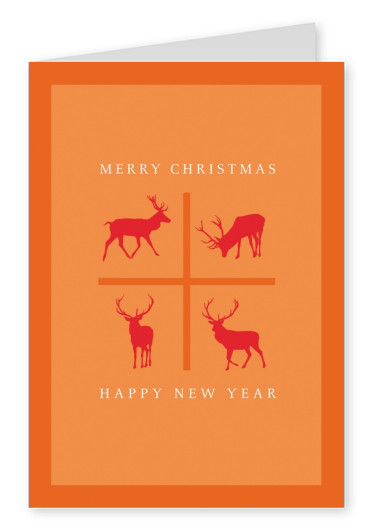 Meridian Design Merry Christmas & a Happy New Year reindeers