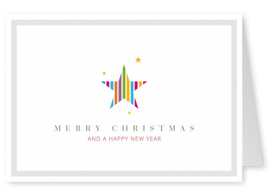 Meridian Design Merry Christmas & a Happy New Year star