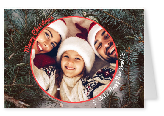 Merry Christmas round frame