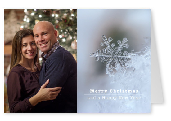 Personalized photo christmas cards printed mailed for you merry christmas and a happy new year with a snowflake m4hsunfo