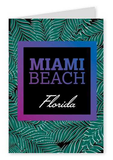miami beach postcard design