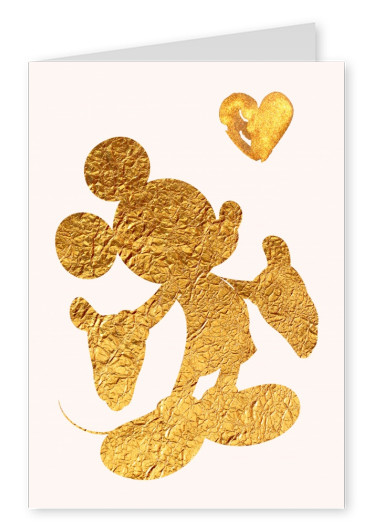 Kubistika golden Mickey Mouse