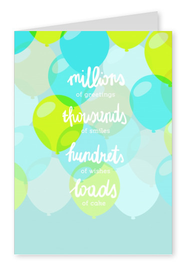 blue card with quote