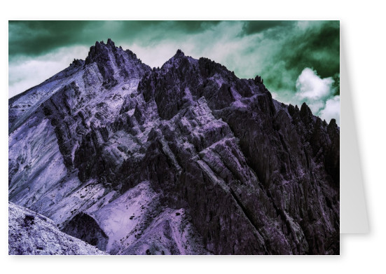 postcard Coloured Mountain