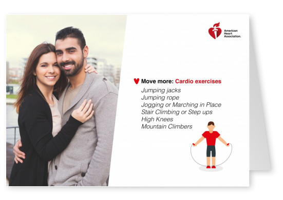 template card with cardio tips