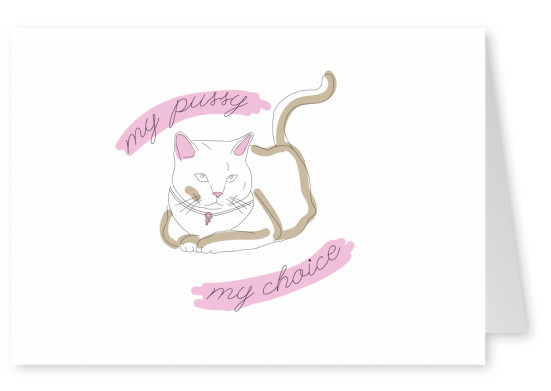 My pussy, my choice card. Women's rights.
