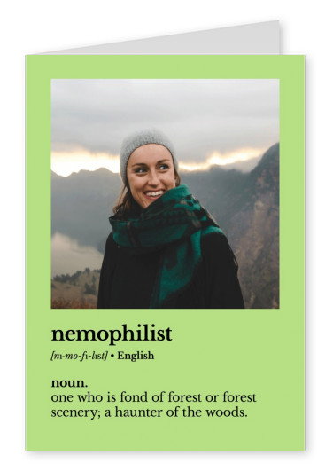 Nemophilist definition