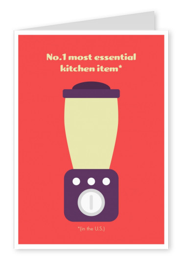 No.1 most essential kitchen item in the U.S. funny card