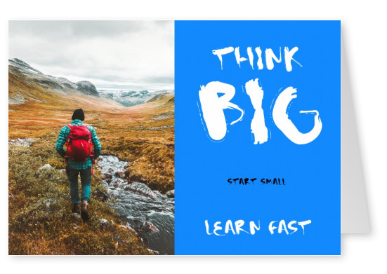 Quote Think big-start small leren snel