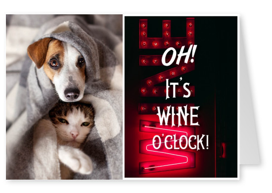 Oh it's wine o'clock funny quote