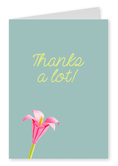 Origami thank you cards send real postcards online origami flower thanks a lot mightylinksfo