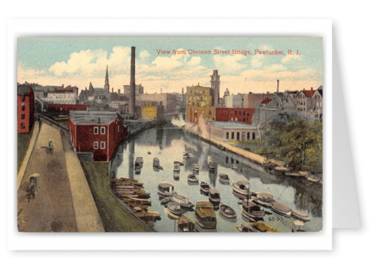 Pawtucket, Rhode Island, view from Division Street bridge