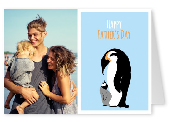 father's day penguin illustration