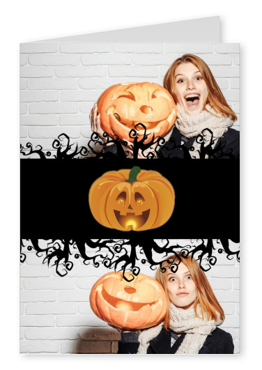 Over-Night-Design Halloween card Happy Halloween