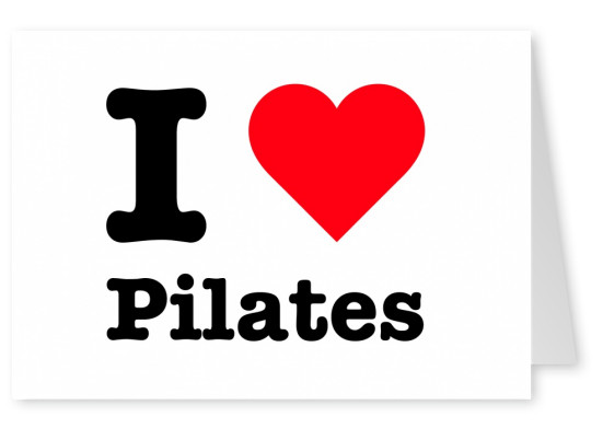 I love Pilates red heart
