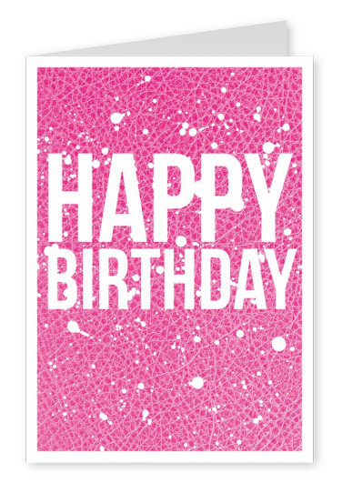 Birthday Wishes On Pink Leather Card