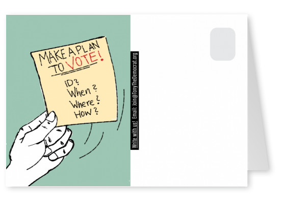 Make a plan to vote! illustration hand