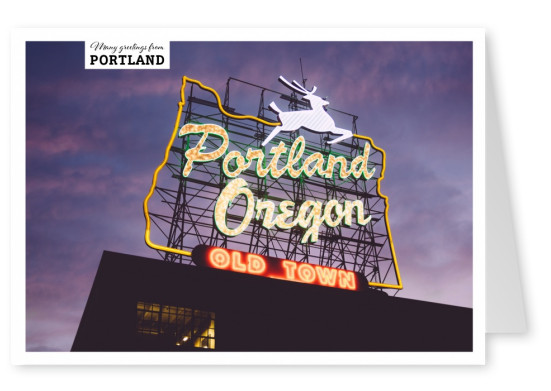 photo of a neon sign portland oregon