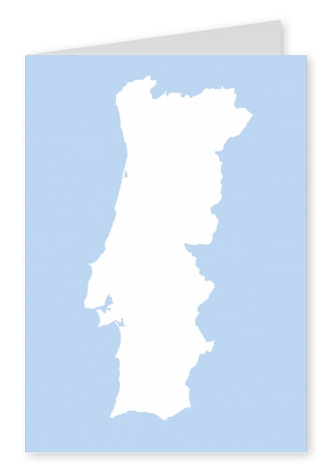 silhouette of Portugal