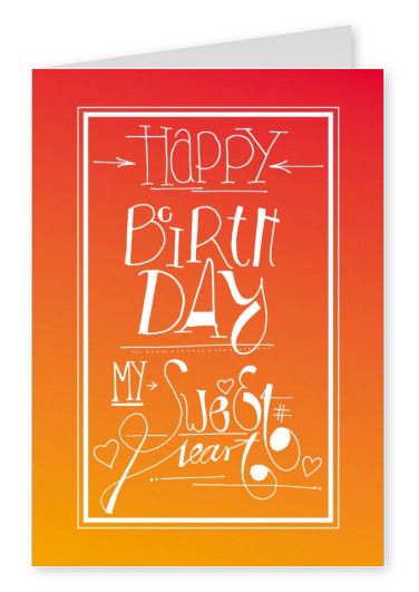 happy birthday my sweetheart postcard greeting card