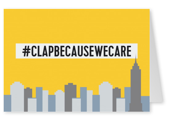 #clapbecausewecare postcard