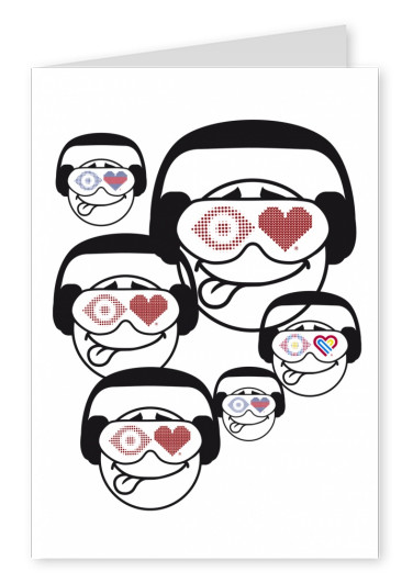 illustration Eye-love heads