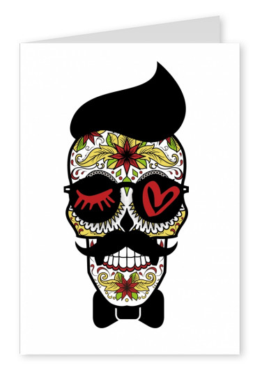 illustration Eye-love hipster skull